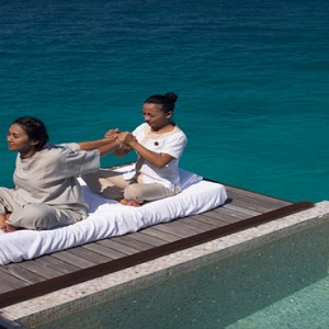 Coco Bodu Hithi - Luxury Maldives Honeymoon Packages - spa treatment outside