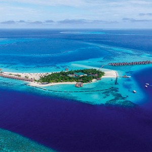 Constance Moofushi - Luxury Maldives Honeymoon Packages - Aerial View