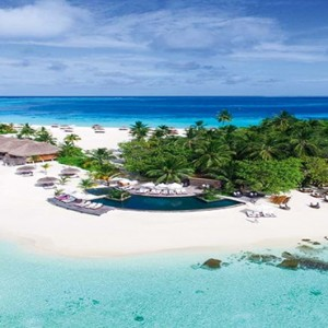 Constance Moofushi - Luxury Maldives Honeymoon Packages - Aerial View1