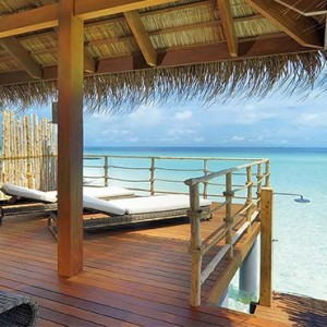 Constance Moofushi - Luxury Maldives Honeymoon Packages - Senior Water Villa deck