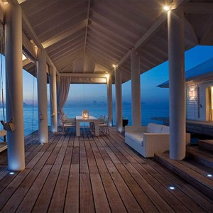 Diamonds Athuruga - Luxury Maldives Honeymoon Packages - Two Bedroom Water Villa deck