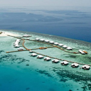 Diamonds Athuruga - Luxury Maldives Honeymoon Packages - aerial view1
