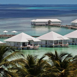 Diamonds Athuruga - Luxury Maldives Honeymoon Packages - view of overwater villa