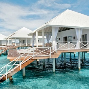 Diamonds Athuruga - Luxury Maldives Honeymoon Packages - view of overwater villas