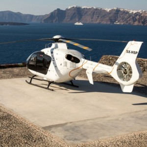 Greece Honeymoon Packages Ambassador Hotel Santorini Helicopter