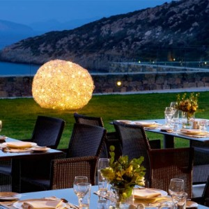 Greece Honeymoon Packages Daios Cove Greece Dining 5