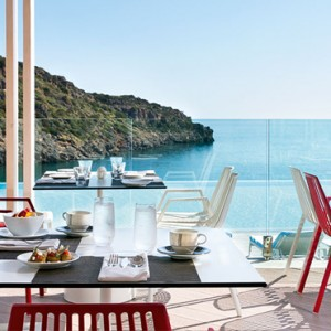Greece Honeymoon Packages Daios Cove Greece Dining 9