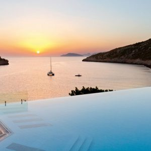 Greece Honeymoon Packages Daios Cove Greece Sunset