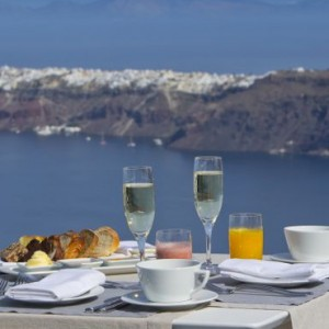Greece Honeymoon Packages Grace Santorini Dining 3