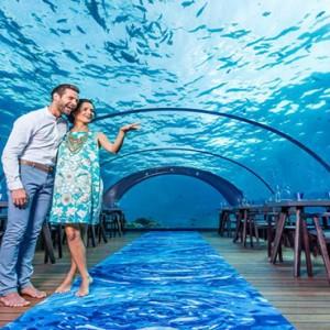 Hurawalhi Island - Luxury Maldives Honeymoon Packages - 5.8 Underwater Restaurant