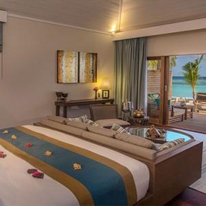 Hurawalhi Island - Luxury Maldives Honeymoon Packages - Beach Villa Bedroom