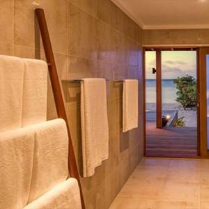 Hurawalhi Island - Luxury Maldives Honeymoon Packages - Beach Villa bathroom