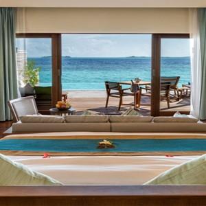 Hurawalhi Island - Luxury Maldives Honeymoon Packages - Ocean Pool Villas bedroom