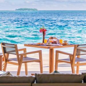 Hurawalhi Island - Luxury Maldives Honeymoon Packages - Ocean Pool Villas deck view