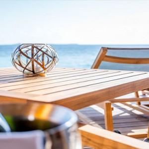 Hurawalhi Island - Luxury Maldives Honeymoon Packages - Ocean Villas dining