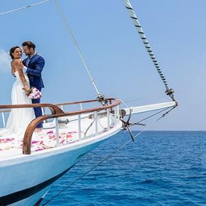 Hurawalhi Island - Luxury Maldives Honeymoon Packages - Wedding boat