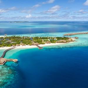 Hurawalhi Island - Luxury Maldives Honeymoon Packages - aerial view