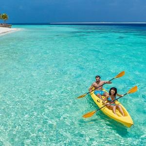 Hurawalhi Island - Luxury Maldives Honeymoon Packages - canoeing