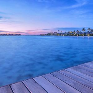Hurawalhi Island - Luxury Maldives Honeymoon Packages - lagoon at night
