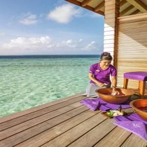Hurawalhi Island - Luxury Maldives Honeymoon Packages - spa foot treatment