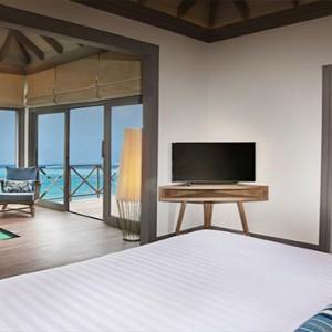 JA Manafaru - Luxury Maldives Honeymoon Packages - Sunrise water villas with infinity pools bedroom