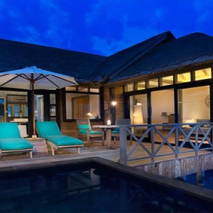 JA Manafaru - Luxury Maldives Honeymoon Packages - Sunrise water villas with infinity pools exterior