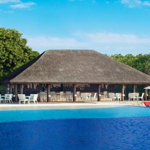 JA Manafaru - Luxury Maldives honeymoon packages - Infinity Bar and Pool exterior