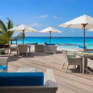 JA Manafaru - Luxury Maldives honeymoon packages - Infinity Bar and Pool outdoor deck