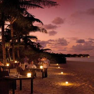 JA Manafaru - Luxury Maldives honeymoon packages - Ocean grill beach dining at night1