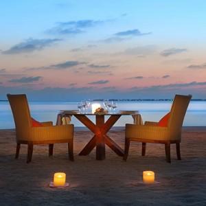 JA Manafaru - Luxury Maldives honeymoon packages - candlelit dining1