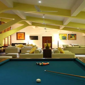 Jetwing Sea - Luxury Sri Lanka Honeymoon Packages - snooker pool area