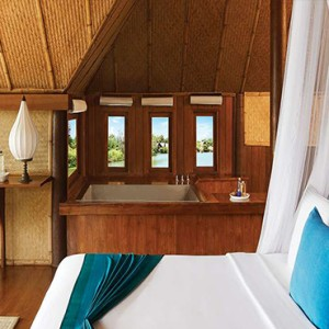 Jetwing Vil Uyana - Luxury Sri Lanka Honeymoon Packages - Marsh Dwelling with pool interior1