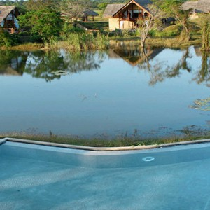 Jetwing Vil Uyana - Luxury Sri Lanka Honeymoon Packages - Pool and lake