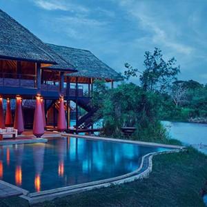 Jetwing Vil Uyana - Luxury Sri Lanka Honeymoon Packages - Restaurant at night