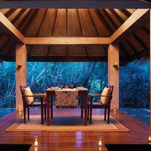 Jetwing Vil Uyana - Luxury Sri Lanka Honeymoon Packages - private dining inside