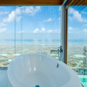 Kandolhu Maldives - Luxury Maldives Honeymoon Packages - Ocean Pool Villa bathroom