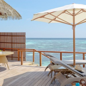 Kandolhu Maldives - Luxury Maldives Honeymoon Packages - Ocean Villa deck sun loungers