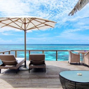 Kandolhu Maldives - Luxury Maldives Honeymoon Packages - Ocean Villa deck view