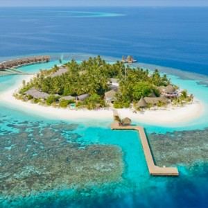 Kandolhu Maldives - Luxury Maldives Honeymoon Packages - aerial view