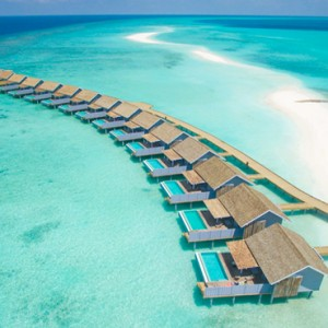 Kuramathi Maldives - Luxury Maldives Honeymoon Packages - Aerial View of overwater villas