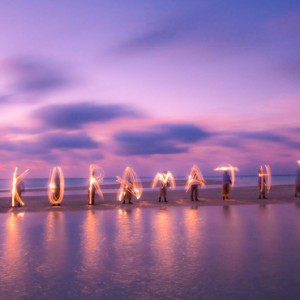 Kuramathi Maldives - Luxury Maldives Honeymoon Packages - light show