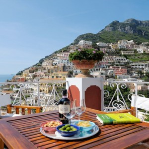 Le Sirenuse - Luxury Italy Honeymoon Packages - Junior Suite Superior Sea View balcony