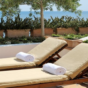 Le Sirenuse - Luxury Italy Honeymoon Packages - Junior Suite Superior Sea View sun loungers