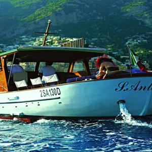 Le Sirenuse - Luxury Italy Honeymoon Packages - boat
