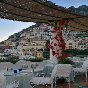 Le Sirenuse - Luxury Italy Honeymoon Packages - restaurant with a view