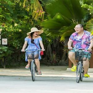 Lily Beach Resort and Spa at Huvahendhoo - Luxury Maldives Honeymoon Packages - Bike