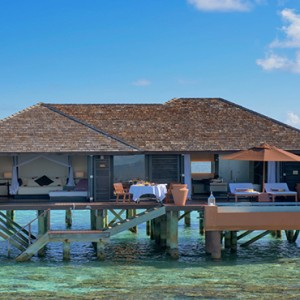 Lily Beach Resort and Spa at Huvahendhoo - Luxury Maldives Honeymoon Packages - Deluxe Water Villa exterior