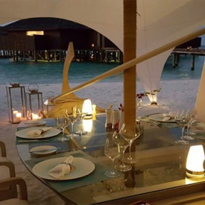 Lily Beach Resort and Spa at Huvahendhoo - Luxury Maldives Honeymoon Packages - Dhoni dinner