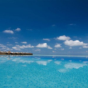 Lily Beach Resort and Spa at Huvahendhoo - Luxury Maldives Honeymoon Packages - Infinity pool