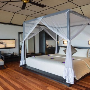 Lily Beach Resort and Spa at Huvahendhoo - Luxury Maldives Honeymoon Packages - Lagoon Villa bedroom